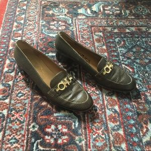 Ferragamo Heeled Loafers with Gold Chain